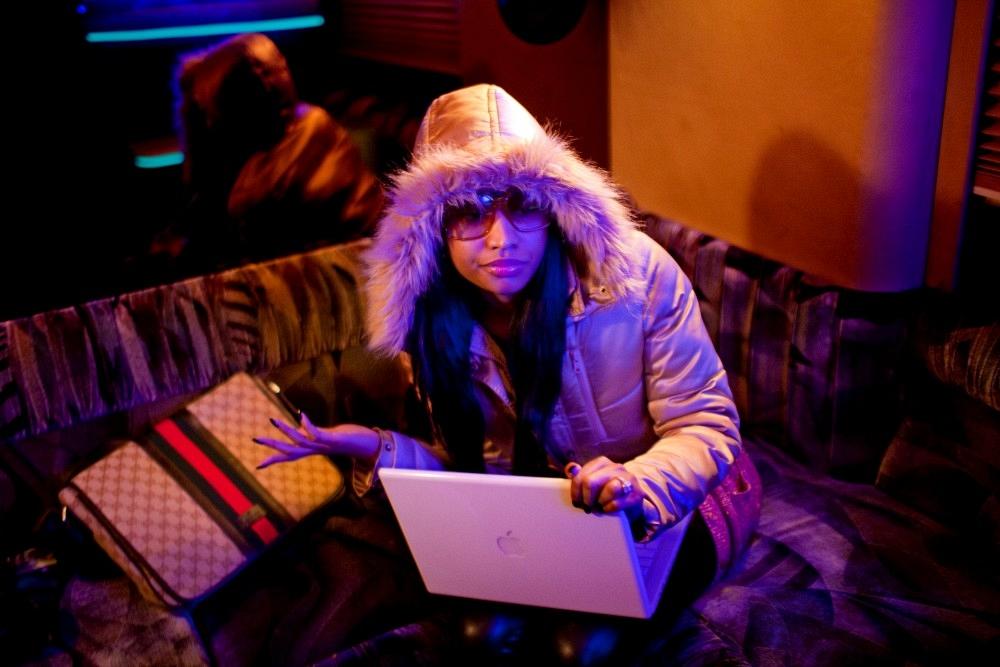 nicki minaj barbie photo shoot pictures. of Nicki Minaj posing for